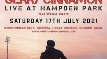 Gerry Cinnamon- Postponed, Awaiting new date